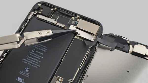 Завершение операции съёма экрана iphone 7 plus