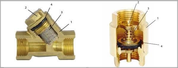 Фильтры и клапаны в сантехнике