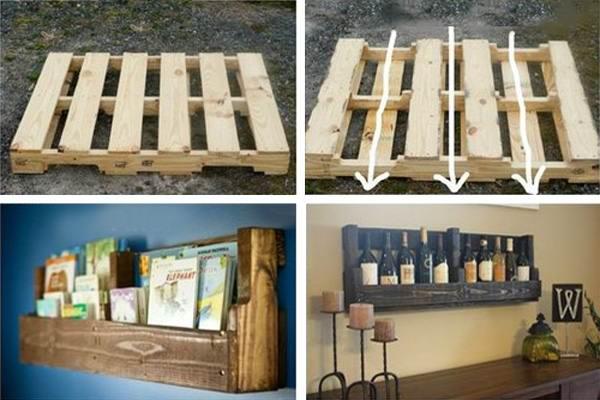 Мебельные полки из паллет