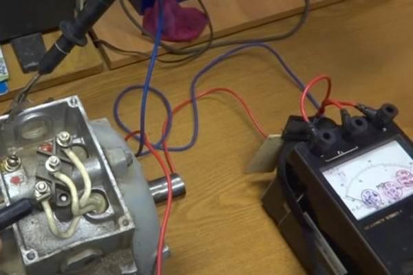 Проверка электродвигателя тестером