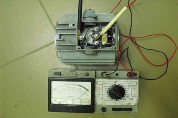 Проверка обмоток асинхронного электродвигателя