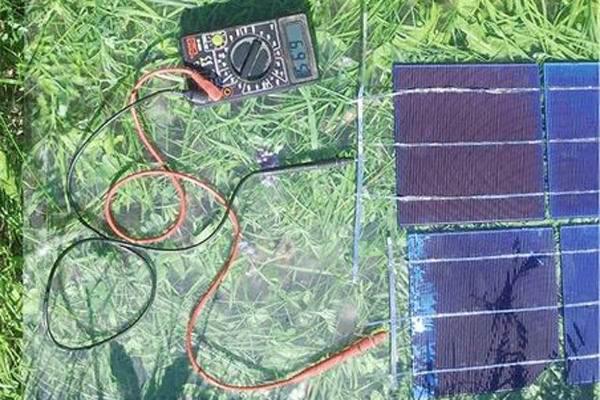 Проверка работы солнечной батареи