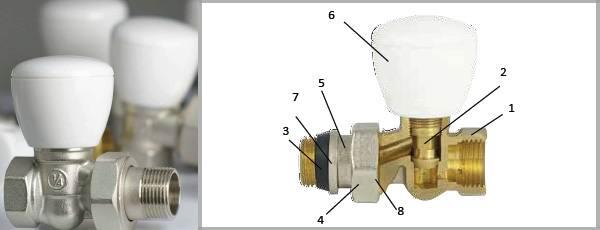 Кран радиаторный сантехнический