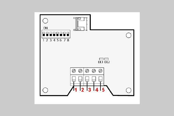 Схема включения датчика по интерфейсу RS485