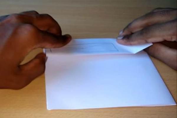 Сворачивание бумаги под спиннер