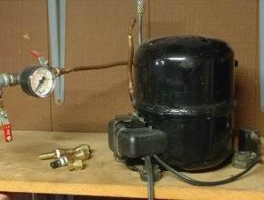 Воздушный компрессор: сделать из холодильника своими руками