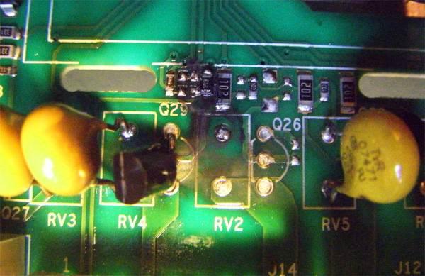 Неисправная плата контроллера стиральной машины