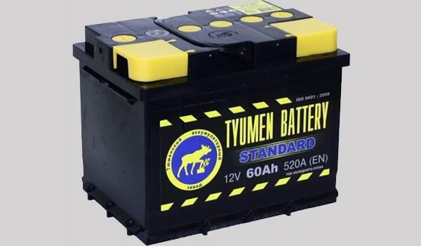Параметры аккумулятора на корпусе батареи
