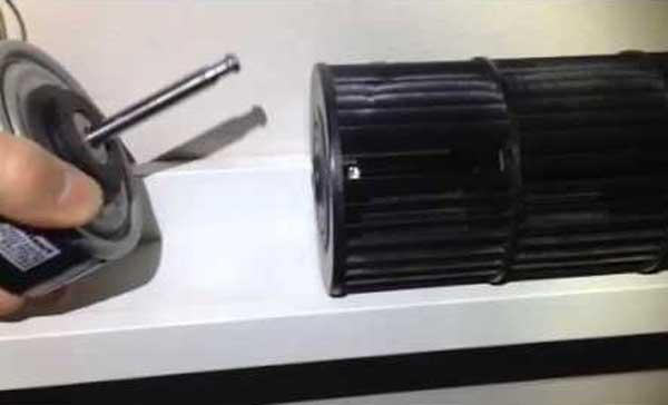 Замена электродвигателя вентилятора