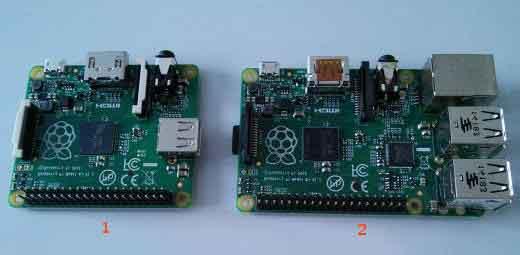 Две серии компьютера Raspberry