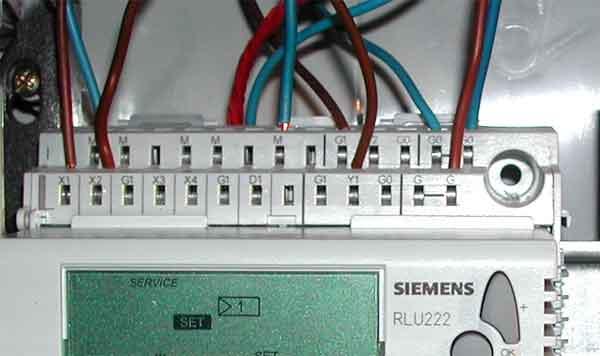 Интерфейс контактных клемм контроллера