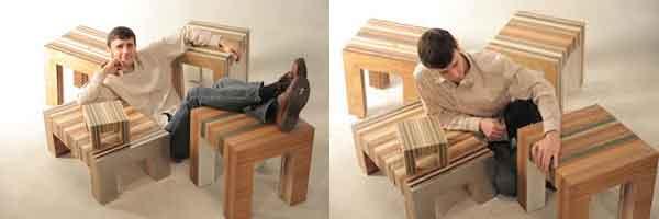 Мебель из восстановленной древесины