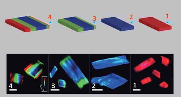 Монолитная структура лазерного светодиода