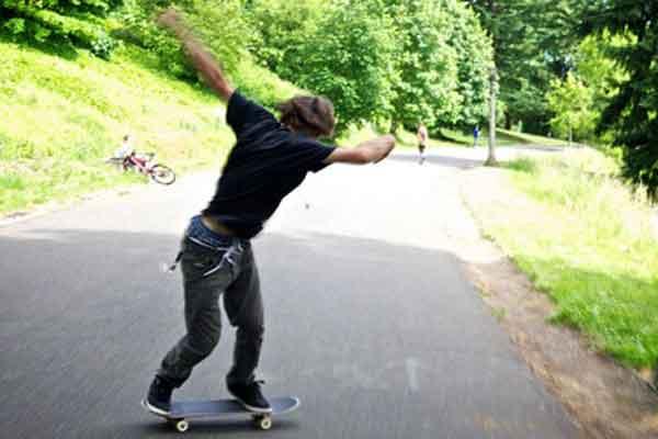 Пауэрслайд на скейтборде