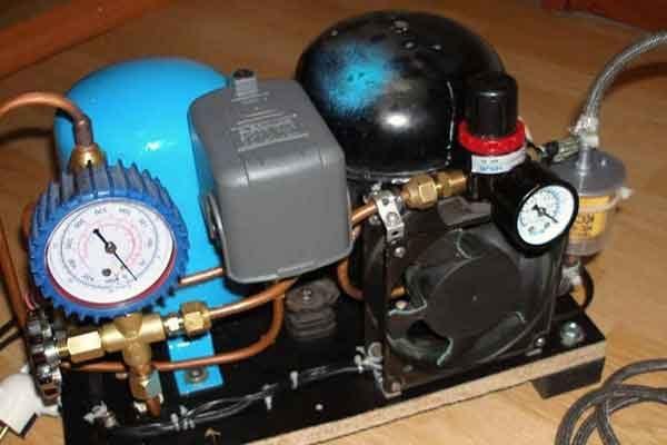 Как сделать с холодильного компрессора компрессор для 740