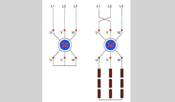 Противоточное торможение мотора с фазным ротором