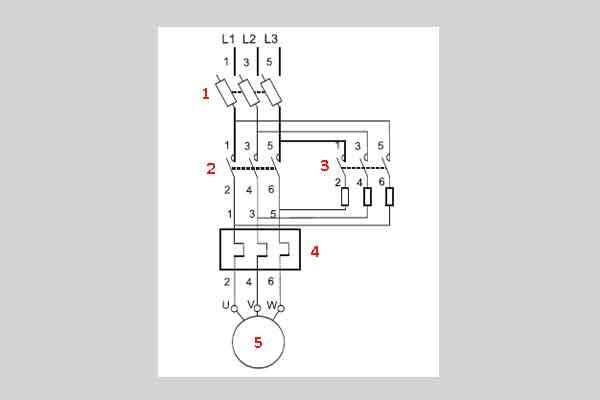 Схема пуска электродвигателя через резисторы