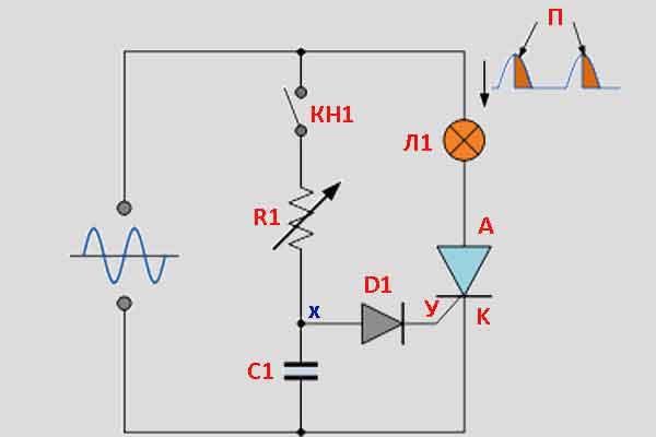 Тиристорная схема управления 4