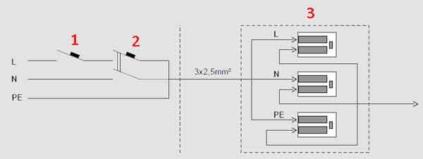 Электрическая схема ванны