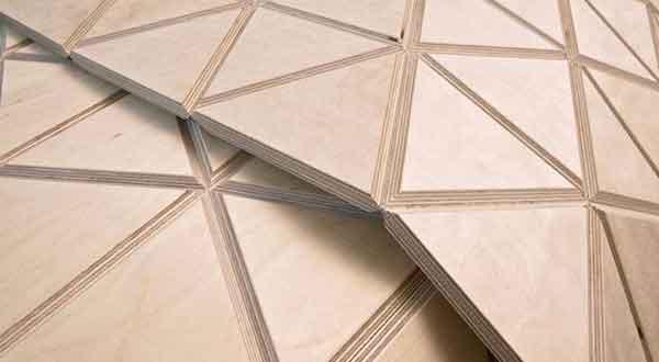 Триангулированный деревянный модуль