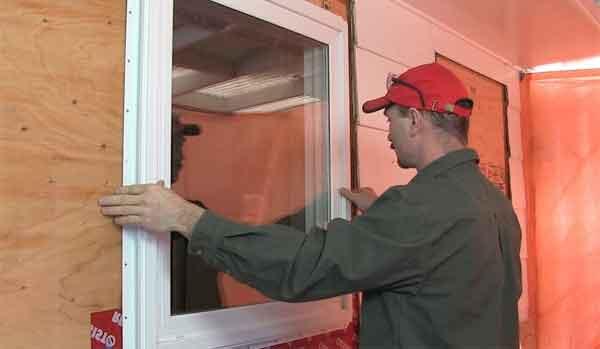 Детали установки окна