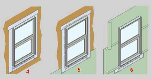 Установка окна пошагово 1