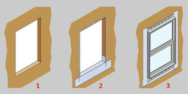 Установка окна пошагово