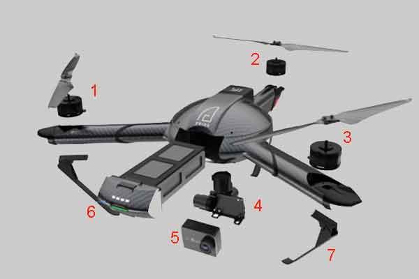 Элементы конструкции дрона