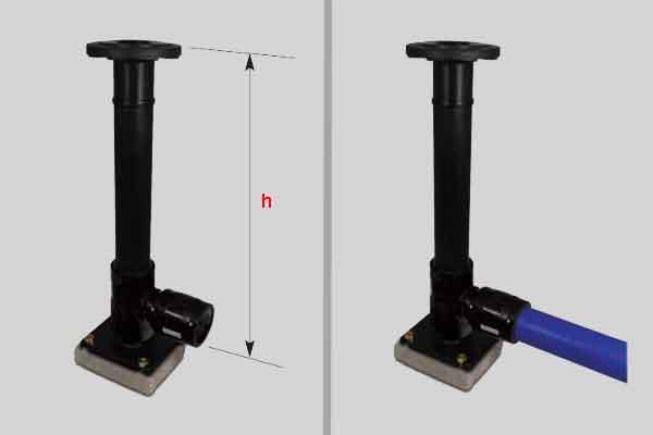 Подсоединение адаптера с фланцем
