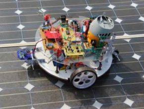 Пылесос-робот для чистки солнечных батарей