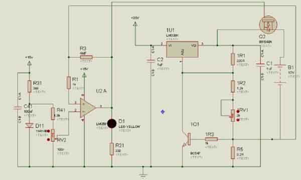 Схема зарядного модуля