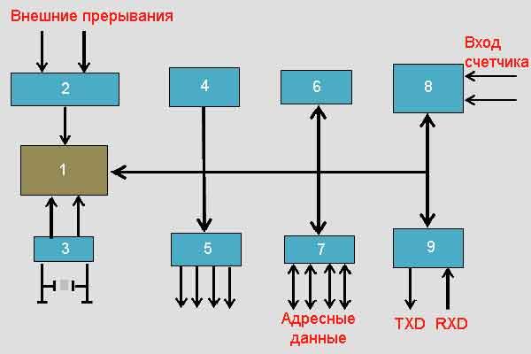 Логическая структура микроконтроллера
