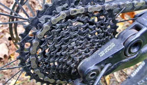 Задняя трансмиссия велосипеда