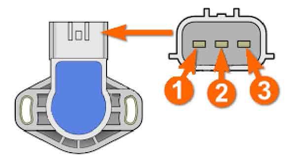 Разъём датчика TPS на три контакта