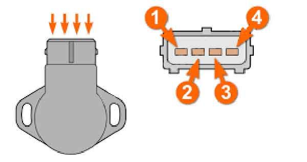 Разъём датчика TPS на четыре контакта