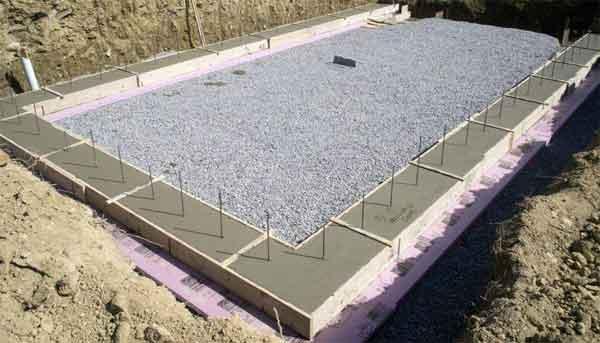 Сооружение фундамента под газобетон