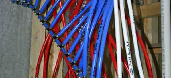 Контроль трубопроводов PEX по цвету