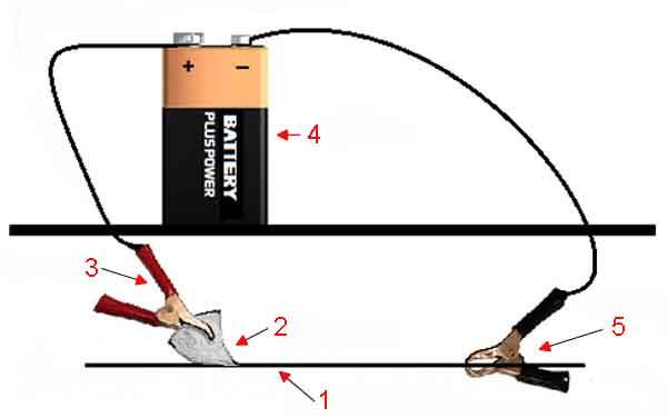 Схема устройства для электролиза