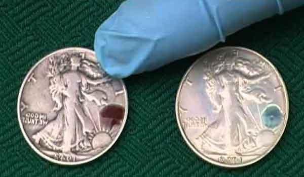 Тест металла сплава на никель или железо