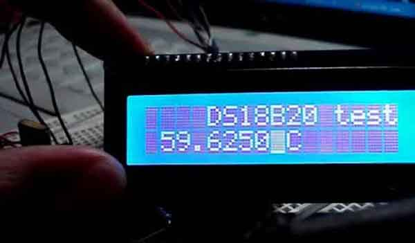 Тестирование температурного датчика DS18S20