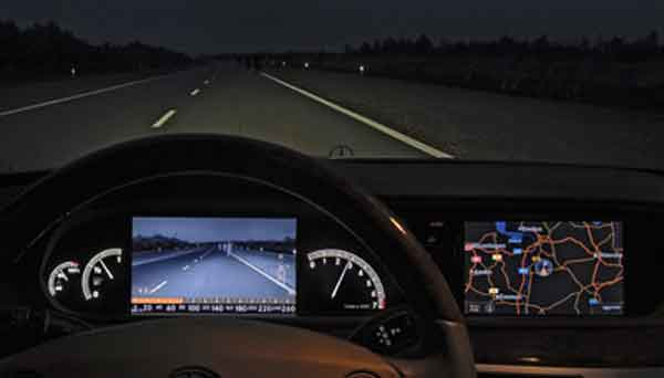 Качество активной системы ночного видения автомобиля