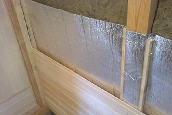 Изоляция стен сауны изнутри