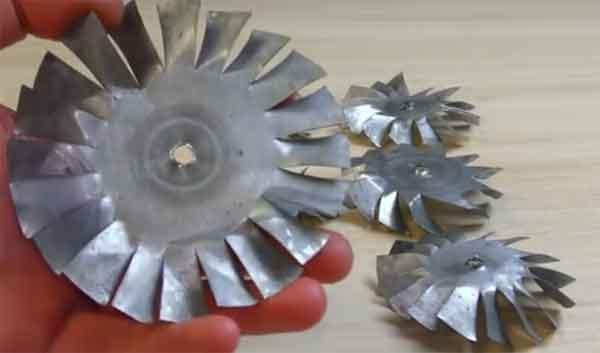 Крыльчатки турбины реактивного ранца