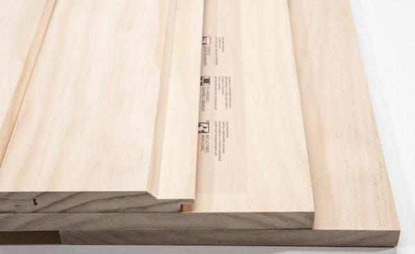 Доска шпунтовая из древесины accoya