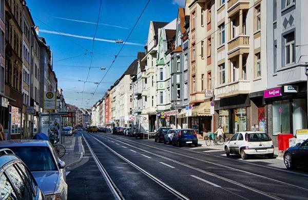 Одна из улиц района Флингерн