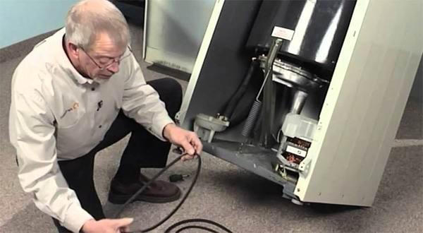 Проверка работы электродвигателя машины