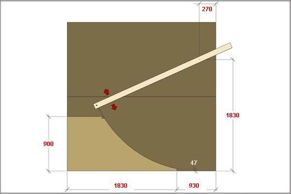 Разметка деталей рампы для скейта