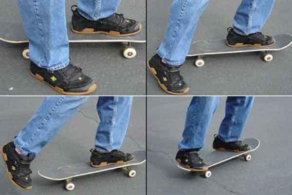 Упражнения на толчок и движение скейта