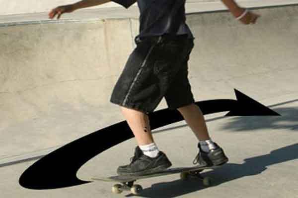 Уроки поворота на скейтборде