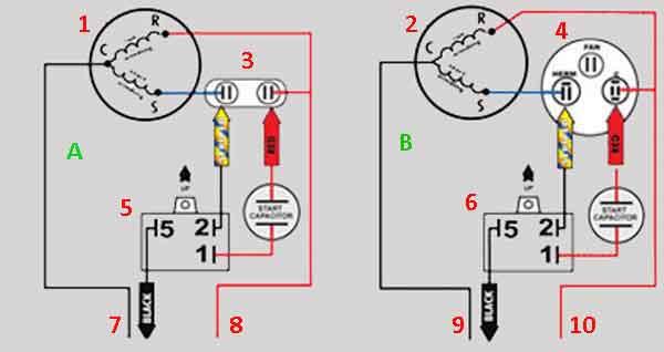 Схемы подключения компрессора
